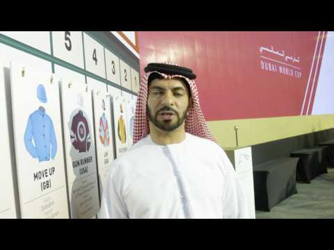 Saeed bin Suroor talking about the Dubai World Cup draw