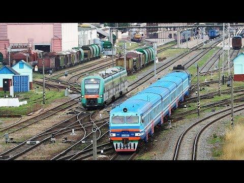 Пассажирские поезда на станции Могилёв-1│июль, 2019