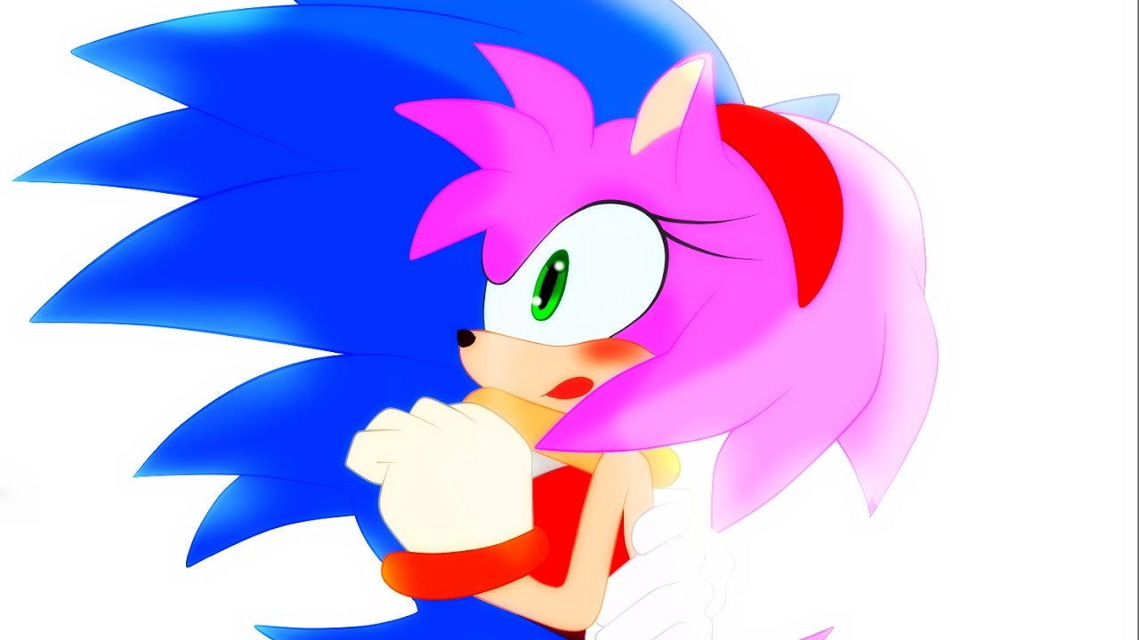 Amy Rose Sin Ropa challenge: sonamy - the first kiss of sonic and amy (se amy)