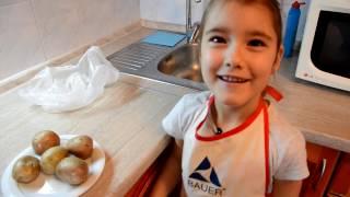 Как быстро сварить картошку в мундире в микроволновке. Картошка в мундире.