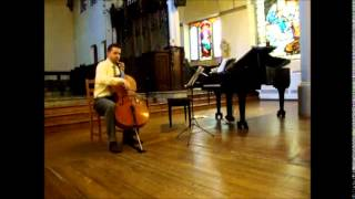 Chris Loxley Plays Bach Suite #1 Courante