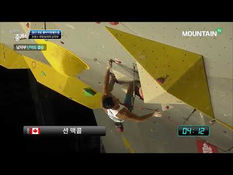 Sean MCCOLL, 2017 IFSC Climbing Worldcup Briançon, France, Men Lead