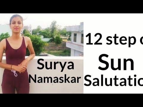 the 12 steps of surya namaskar  sun salutation practice