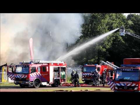 Brand in sportclub op sportpark Sloten in Amsterdam.