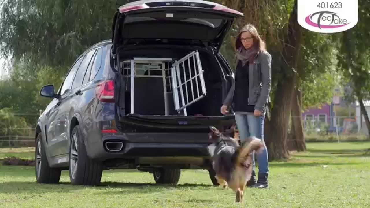 hundebox f r auto single hundetransportbox tectake youtube. Black Bedroom Furniture Sets. Home Design Ideas