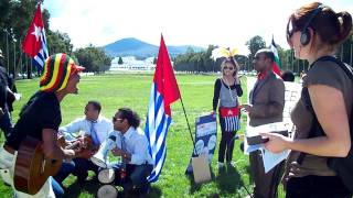 Free West Papua Campaign : Outside the Parlaiment House In Canberra