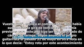 Boni, exguitarrista de Barricada, se queda sin voz por un cáncer de laringe