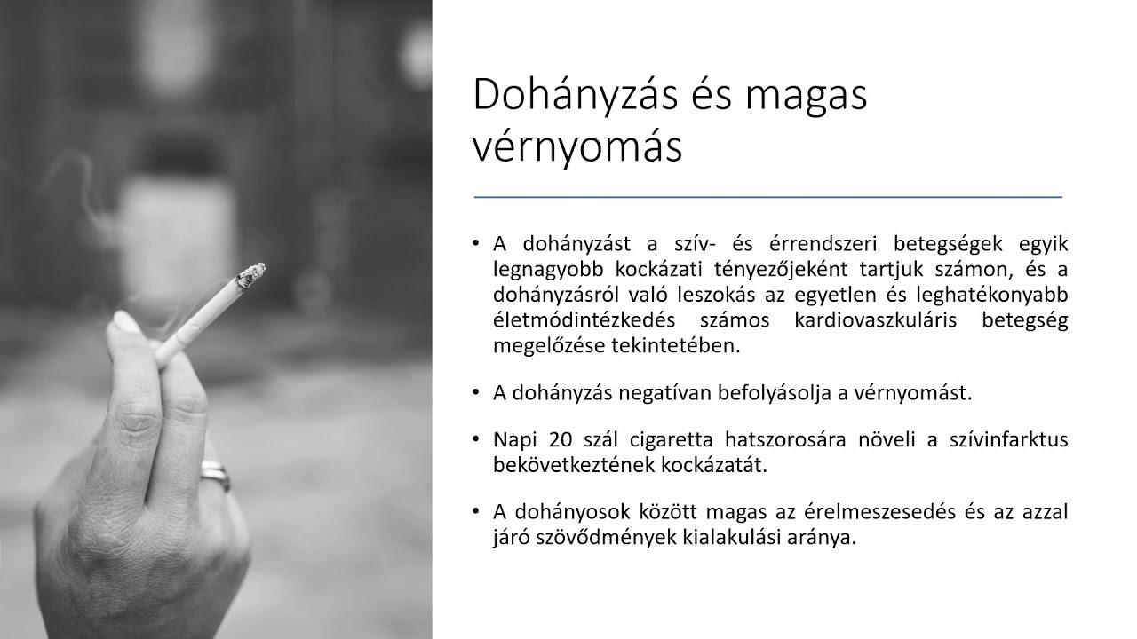 magas vérnyomás és dohányzás)