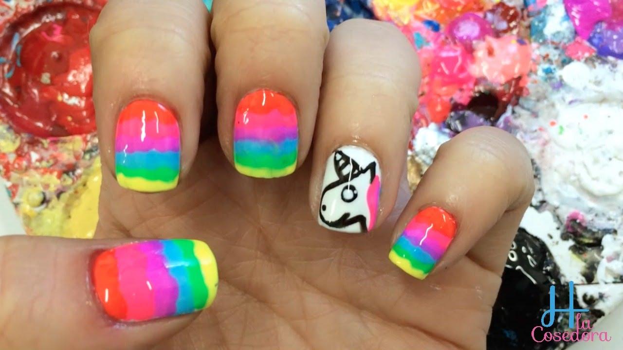 Decoracion de uñas Arco Iris - Ft. Purpurinamua - Rainbow Nail Art ...