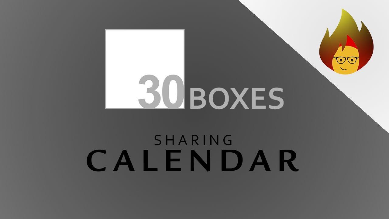 SHARING Calendar - How to do i...