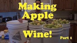 Making Apple Cider Wine - Part 1