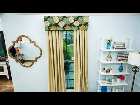 DIY Cardboard Valance - Home & Family