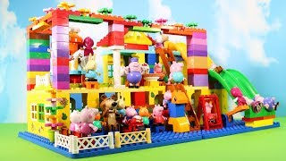 Peppa Pig Legos House Construction Sets - Lego Duplo House With Water Slide Toys For Kids #7