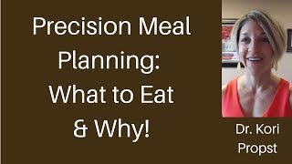 Precision Meal Planning  What to Eat & Why!