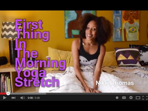 morning yoga stretch in bed  youtube