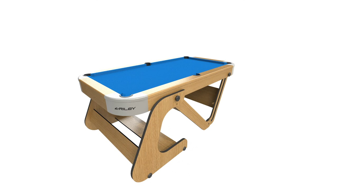 Wwwmadfuncouk Riley Ft Folding Pool Table RPTF YouTube - Fold out pool table