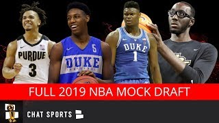 2019 NBA Mock Draft   Final 1st And 2nd Round Projections