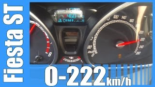 2015 ford fiesta st 0 222 km h fast acceleration top speed autobahn