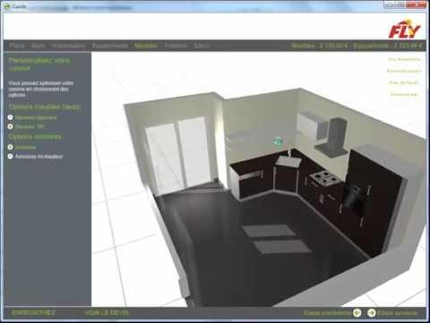 logiciel de conception de cuisine squareclock fly - personnaliser ... - Logiciel De Cuisine En 3d Gratuit