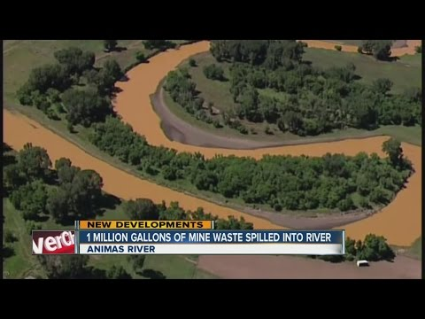 Animas River contaminated by waster water from King Gold Mine