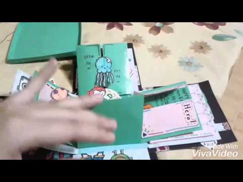 กล่องของขวัญวันเกิด(สำหรับคนรักการ์ตูน) DIY