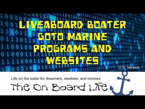 Liveaboard Boater GoTo Marine Programs and Websites (Current) 2018