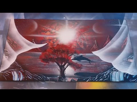 Spray paint art tutorial for beginners. How to add ...