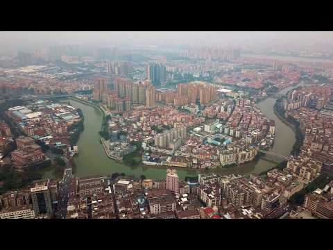 Foshan - Aerial View of Guangdong Province, China