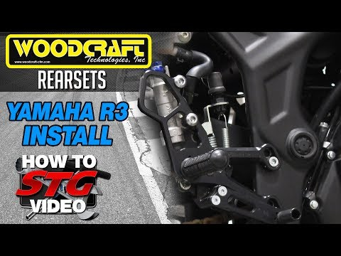 How to Install Woodcraft Rearsets on a Yamaha YZF-R3 2015 from Sportbiketrackgear.com