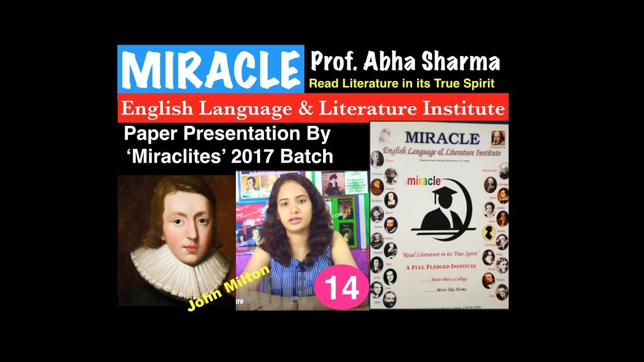 paper presentation in english literature