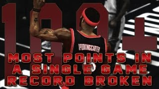 NBA 2K13 MyCAREER - IpodKingCarter Breaks Total Points In A Single Game Record With 100+ Points