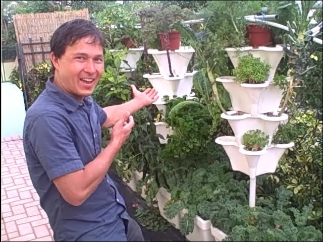 Easy Vertical Hydroponics Tower Garden Even Beginners Can Grow Food Youtube