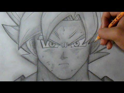 """Paso a Paso"" Cómo dibujar a Goku SSJ ""Fase Dios"" (Dragon ..."