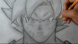 """Paso a Paso"" Cómo dibujar a Goku SSJ ""Fase Dios"" (Dragon Ball Z) 