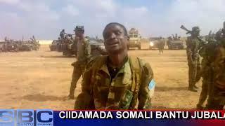 Ciidamada Somali Bantu jubaland oo hadda isku diyaarinaya howlgal ee jubooyinka.