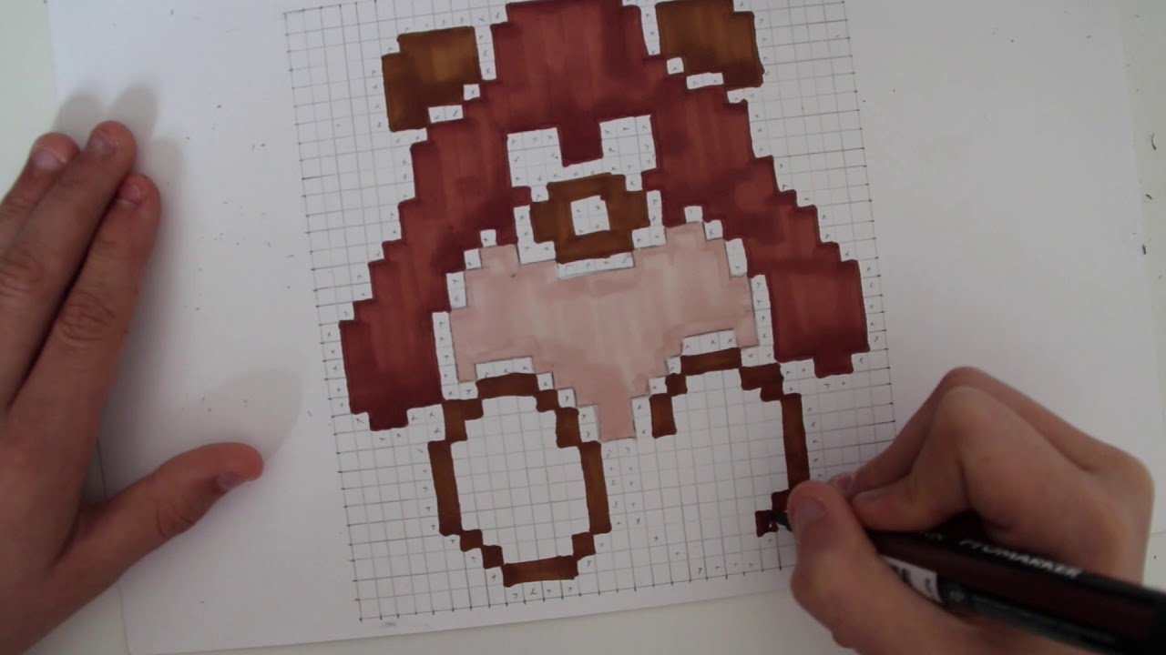Comment dessiner un ours en peluche pixel art youtube - Comment dessiner un ours ...