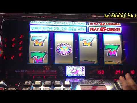BUTTERFLY SEVENS SLOT,  4 Reel Slot $0.25 x 18= Bet $4.50, Pechanga Casino Akafujislot
