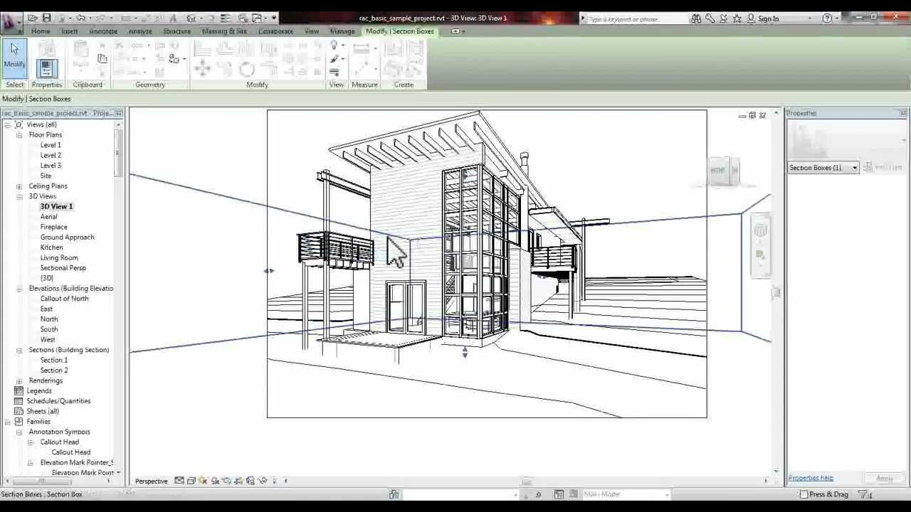Drawing Lines In Revit : Revit section perspective tutorial youtube