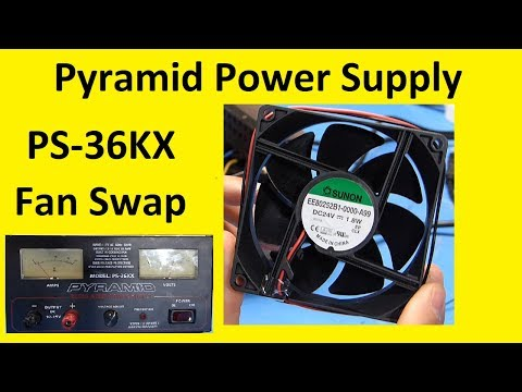 Pyramid Power Supply Fan Replacement PS-36KX