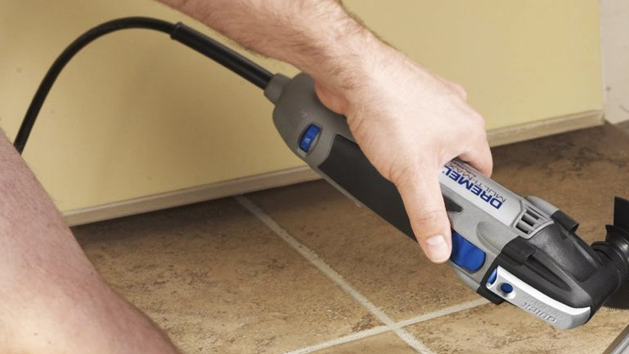 Dremel mm30 cutting cement board to install a toilet flange youtube