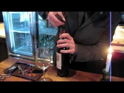 Decanting a Bottle of 1975 Chateau Lafite-Rothchild - Vintage Red Wine