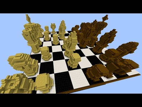 Minecraft LIFESIZE CHESS PARKOUR! with PrestonPlayz & PeteZahHutt
