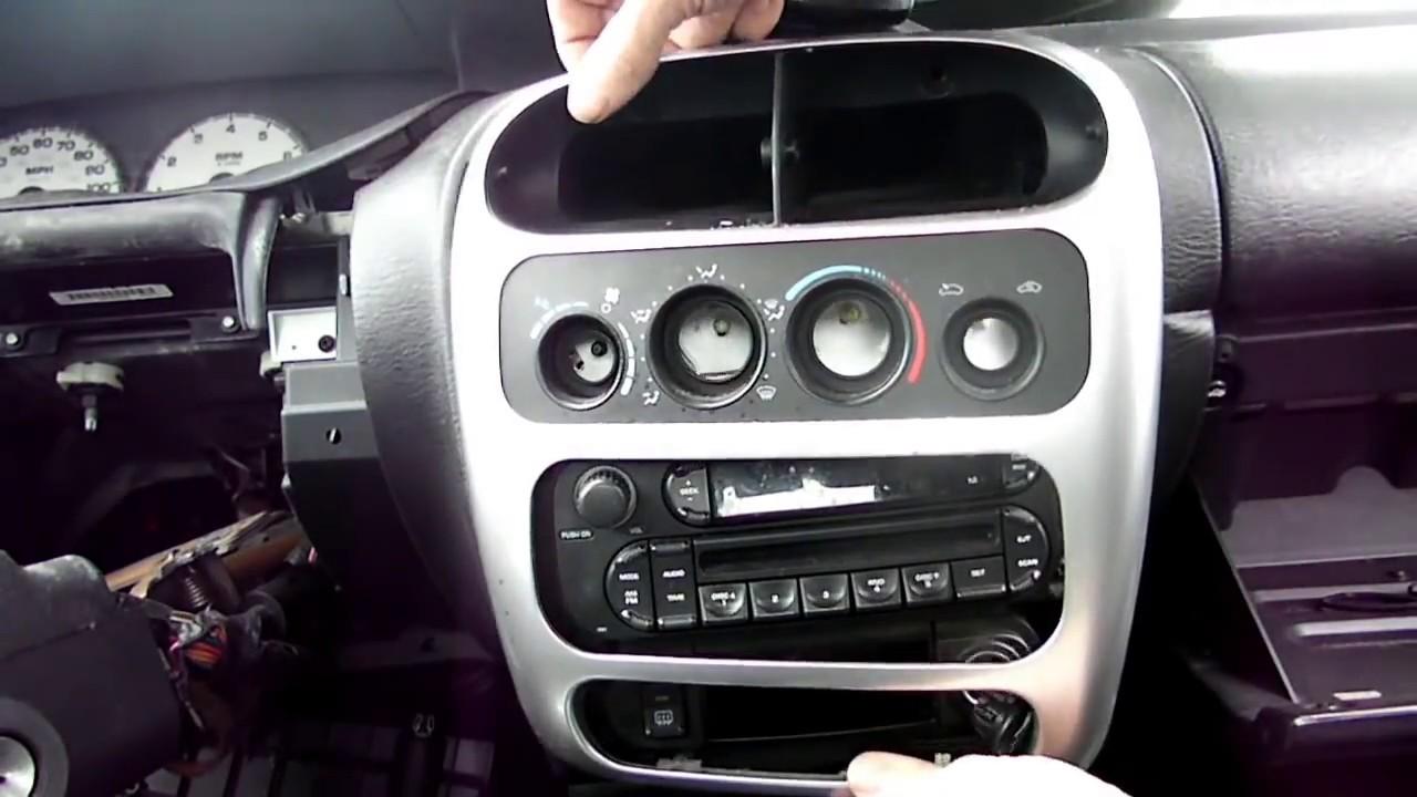 Dodge Neon Radio Removal  YouTube