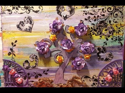 Lets make some Art on a Canvas  : An Amethyst Garden