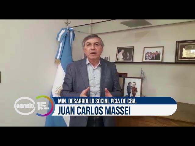 Canal C 15 años: Juan Carlos Massei, min. de Desarrollo Social de la provincia