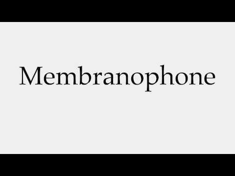 How to Pronounce Membranophone