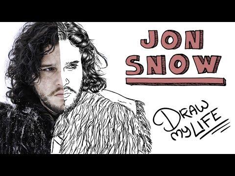 Download Youtube: JON SNOW (JON NIEVE)❄  Draw My Life