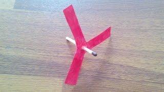 Вертолет из бумаги и спички. домашние поделки из бумаги(Вертолет из бумаги и спички. домашние поделки из бумаги., 2016-12-27T11:50:50.000Z)