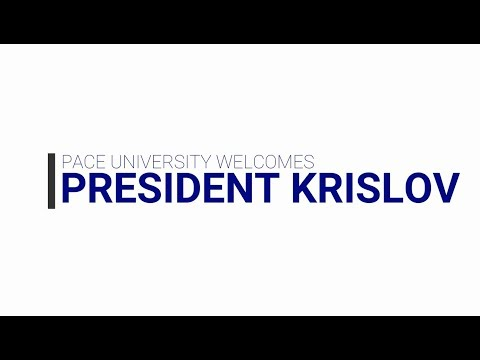 Faculty, staff, and a variety of student groups welcome Krislov to the Pace family.
