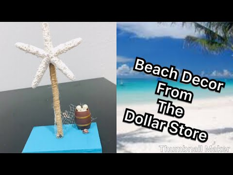 Dollar store beach home decor idea / starfish beach party decor centerpiece/ beach themed party 🏝